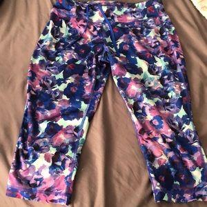 Teal and purple leggings